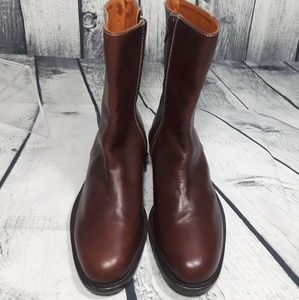 Sax Leather Women's Brown Short Boots Size 36 / 5